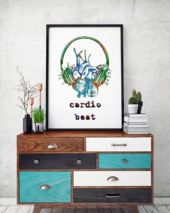 "Plakat ""Cardio beat mix blue"""