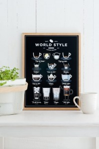 "Plakat ""WORLD STYLE COFFEE"""