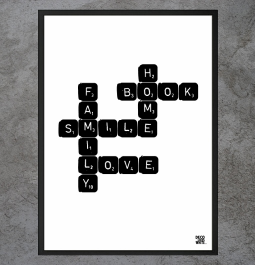 "Plakat ""Home.Book.Smile.Family.Love"""